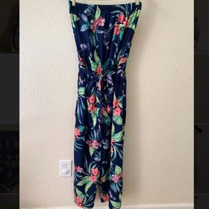 Hint Of Blush Floral Jumpsuit